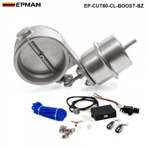 """EPMAN - Exhaust Control Valve Set With Boost Actuator Cutout 2.3"""" 60mm Pipe CLOSE STYLE with Wireless Remote Controller Set EP-CUT60-CL-BOOST-BZ"""