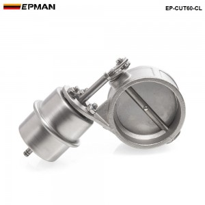 Tansky NEW Vacuum Activated Exhaust Cutout / Dump 60MM Close Style Pressure: about 1 BAR TK-CUT60-CL