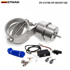 """EPMAN - Exhaust Control Valve Set With Boost Actuator Cutout 2.3"""" 60mm Pipe Open STYLE with Wireless Remote Controller Set EP-CUT60-OP-BOOST-BZ"""