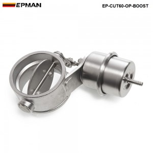 Tansky NEW Boost Activated Exhaust Cutout / Dump 60MM Open Style Pressure: about 1 BAR TK-CUT60-OP-BOOST