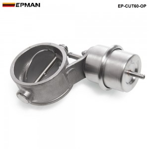 Tansky NEW Vacuum Activated Exhaust Cutout / Dump 60MM Open Style Pressure: about 1 BAR TK-CUT60-OP