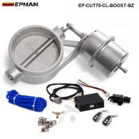EPMAN - Exhaust Control Valve With Boost Actuator Cutout 70mm Pipe CLOSED with Wireless Remote Controller Set EP-CUT70-CL-BOOST-BZ