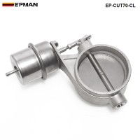 H Q NEW Vacuum Activated Exhaust Cutout / Dump 70MM Close Style Pressure: about 1 BAR TK-CUT70-CL