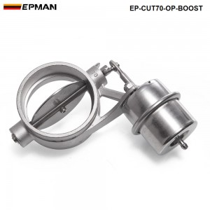 H Q NEW Boost Activated Exhaust Cutout / Dump 70MM Open Style Pressure: about 1 BAR TK-CUT70-OP-BOOST
