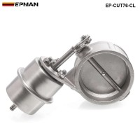 NEW vacuum Activated Exhaust Cutout 3'' 76MM Close Style Pressure: about 1 BAR EP-CUT76-CL