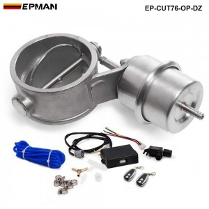 """EPMAN - Exhaust Control Valve Set Cutout 3"""" 76mm Pipe OPEN Style With Vacuum Actuator with Wireless Remote Controller Set EP-CUT76-OP-DZ"""