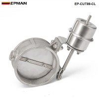 EPMAN -H Q NEW Vacuum Activated Exhaust Cutout / Dump 89MM Close Style Pressure: about 1 BAR EP-CUT89-CL