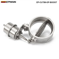 EPMAN- H Q NEW Boost Activated Exhaust Cutout / Dump 89MM Open Style Pressure: about 1 BAR EP-CUT89-OP-BOOST