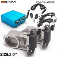 "EPMAN - Exhaust Control Valve Dual Set w Remote Cutout Control  For 2"" 51mm Pipe 2 sets   EP-CUT001A20D-DZ"