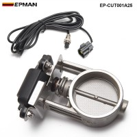 "EPMAN - 1pc 2.5""/63mm Exhaust Control Valve/ Exhaust Gas Recirculated For Exhaust Catback Downpipe  EP-CUT001A25"