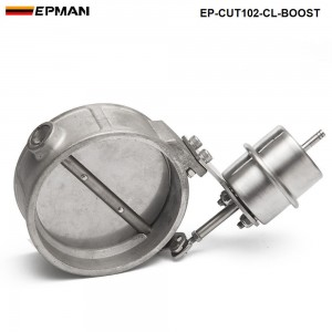 EPMAN - NEW Boost Activated Exhaust Cutout / Dump 102MM CLOSE Style Pressure: about 1 BAR EP-CUT102-CL-BOOST