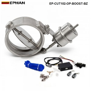 EPMAN - Exhaust Control Valve With Boost Actuator Cutout 102mm Pipe Opend with Wireless Remote Controller Set EP-CUT102-OP-BOOST-BZ