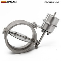 EPMAN- H Q NEW Vacuum Activated Exhaust Cutout / Dump 102MM OPEN Style Pressure: about 1 BAR  EP-CUT102-OP