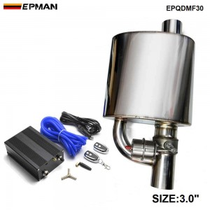 """3"""" Exhaust Muffle With Dump Valve Electric Exhaust Cutout Remote Control Set EPQDMF30"""