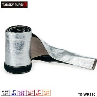 "TANSKY - Aluminized Metallic Heat Shield Sleeve Insulated Wire Hose Cover Loom (L:3FT & 6FT , ID: 0.75""& 1""& 1.25"") TK-WR110"