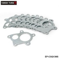TANSKY - 5 Bolt Downpipe Gasket For T3, T3/T4, T04E Turbo Manifold Down Pipes Internal Wastegate Actuator EP-CGQ136S