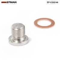 EPMAN -M12 x 1.25mm Oxygen o2 Lambda Sensor blanking Exhaust Plug Cap fits motorcycles and cars EP-CGQ144