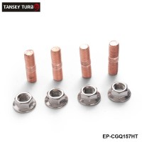 Epman Sport M10 x 1.50 Threaded Turbo Studs Kit Flange Nuts High Strength T3 T4 T6 Set of 4 EP-CGQ157HT