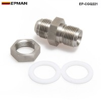 EPMAN Car Universal Turbo Steel Oil Pan Return Drain Plug Adapter Bung Fitting 10AN Weldable EP-CGQ221