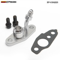 EPMAN -Turbo Oil Feed & Drain Flange For TOYOTA CT20 CT26 4AN 10AN (M8 x 1.25mm) EP-CGQ223