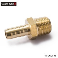 "TANSKY - 1/2"" Hose Barb x 1/2 MIP Brass Hose Barb x Male Pipe Thread NPT, MIP Fitting Fuel Water For BMW VW AUDI TK-CGQ190"