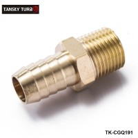 "TANSKY -Brass 1/2"" MNPT x 5/8"" Hose Barb Fitting For BMW VW AUDI  Vacuum line/Fuel pump/Oil cooler TK-CGQ191"