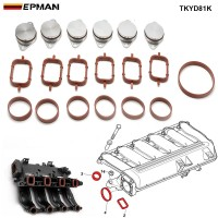 EPMAN 6 x 33MM Diesel Swirl Flap Blanks Repair Delete Kit Flaps Gasket For BMW Previous M57 TKYD81K