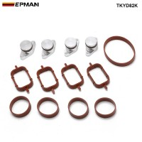 EPMAN 4 x 22mm Aluminium Swirl Flap Removal Repair Kit With Intake Manifold Gasket For BMW 320d 330d 520d 525d 530d TKYD82K