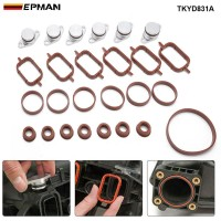 EPMAN 6 x 22mm Aluminium Swirl Flap Removal Repair Kit W Gaskets For BMW E46 E39 E90 E39 / E60 / E61 Intake Manifold TKYD831A