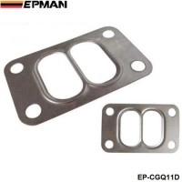 EPMAN 10PCS/LOT T3 T34 T35 T38 Twin Entry Divided Turbo Manifold Turbine Inlet Gasket 304 Stainless Steel EP-CGQ11D