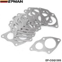 EPMAN -10PCS/LOT Aluminum Graphite Turbo to Downpipe Gasket For Mitsubishi EVO 1-3 / 4G63  EP-CGQ130S