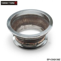 "TANSKY -Steel Exhaust manifold uppipe catalyst Reducer for 4"" V Band to 3"" V Band Flange EP-CGQ138Z"