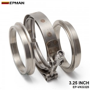 Epman 3.25 Inch Turbo Exhaust Down Pipe Stainless Steel #304 V-Band Clamp with 2Flange EP-VKG325