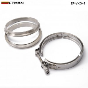 EPMAN - Racing Car T304 Stainless Steel V Band Clamp Flange Assembly For Exhaust Turbo Wastegate  4.5