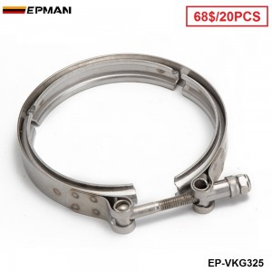 """EPMAN -20PCS/CARTON Universal 3.25""""  Stainless Steel Turbo V Band Clamp For Turbo Exhaust Downpipe EP-VKQ325"""