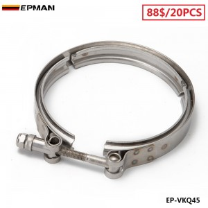 """EPMAN -20PCS/CARTON Universal 4.5""""  Stainless Steel Turbo V Band Clamp For Turbo Exhaust Downpipe EP-VKQ45"""