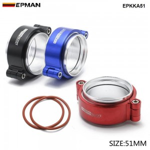 """EPMAN - HD Clamp System Assembly Exhaust V-band Clamp Anodized For 2"""" OD Turbo / Intercooler Pipe EPKKA51"""