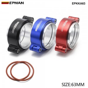 """EPMAN - HD Clamp System Assembly Exhaust V-band Clamp Anodized For 2.5"""" OD Turbo / Intercooler Pipe  EPKKA63"""
