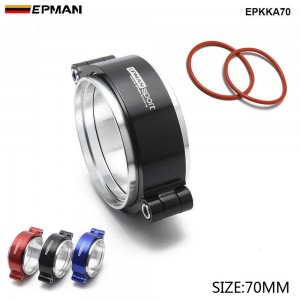"""EPMAN HD Exhaust V-band Clamp W Flange System Assenbly Anodized Hose Clamp Release For 2.75"""" OD Turbo Dump Pipe EPKKA70"""