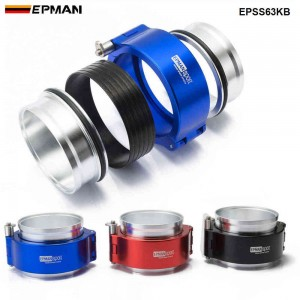 """EPMAN HD Clamp System Assembly Exhaust V-band Clamp Quick Release For 2.5"""" OD Exhaust / Intercooler Pip/Turbo EPSS63KB"""