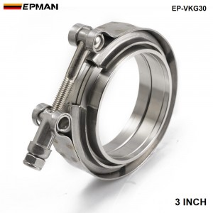 EPMAN - Universal Upgraded 3 inch Auto Parts V-band clamp kit for Turbo, Exhaust pipes EP-VKG30