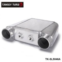 "TANSKY -Universal Aluminum Bar & Plate Front Mount Water-To-Air Intercooler Inlet/Oulet 3.5"" Core: 250 X 220 X 115mm TK-SL5046A"