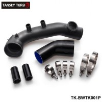 TANSKY - Black Intake Charge pipe Aluminum OEM Replacement For BMW 335i xi E82 E90 E92 E92 E93 E91 E88 TK-BWTK001P