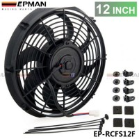 "EPMAN 12"" Universal 12 V 90W Slim Pull Push Racing Electric Radiator Engine Cooling Fan EP-RCFS12F"