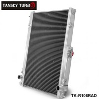 TANSKY -42MM 2 Row Aluminum Radiator for Nissan Skyline R33 R34 GTR GTST RB25DET MT TK-R106RAD