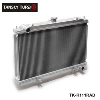 TANSKY -Performance 50mm 2 Row  Alloy aluminum radiator For Nissan Silvia S14 S15 SR20DET 240SX 200SX Manual TK-R111RAD