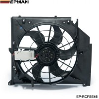 EPMAN - Radiator Condenser Cooling Fan (Brushless Motor) For BMW 3 Series E46 99-06 325i 328i 330i 17117561757 EP-RCFSE46