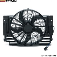 EPMAN - AC A/C Condenser Cooling Fan Assembly 5 Blade For BMW X5 E53 2000-2006 64546921381 EP-RCFSE53X5