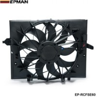 EPMAN - Sport Radiator Cooling Fan Brushless Motor 17427543282 For BMW 5 Series 528i 528 645 525 530 Sedan E60 EP-RCFSE60