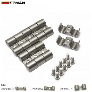 EPMAN Stainless Steel Double Line Clamps Pack of 10 modified Fits Fuel, Air, Electrical, Brake, Lines EPLC2375 EPLC2187 EPLC2250